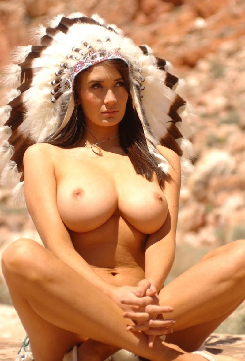 Gorgeous-woman-with-giant-natural-breasts-sitting-naked-in-the-desert ...